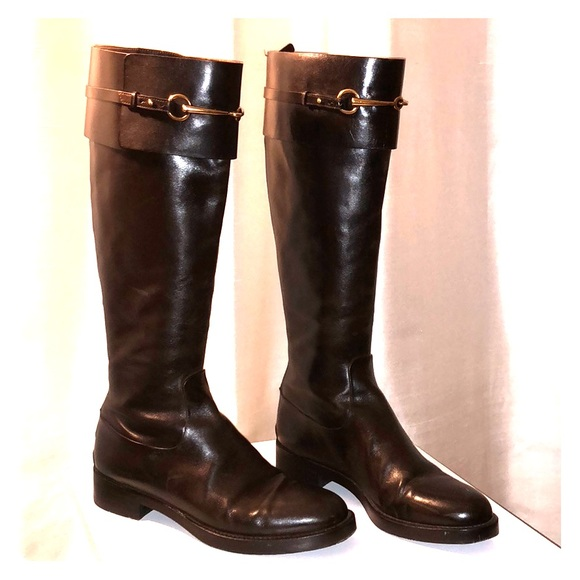 7ae8c96f417 Gucci Shoes - Gucci Jamie Flat riding boots